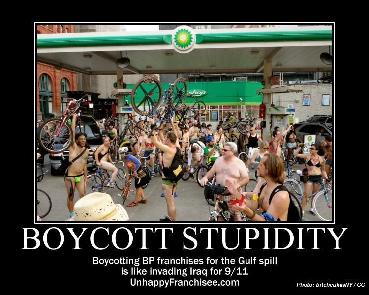 Boycott Stupidity Poster 2