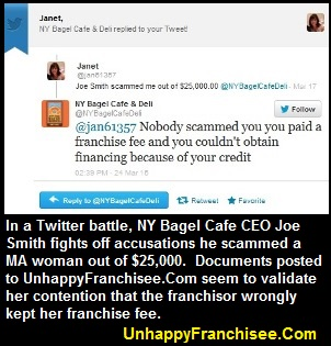 New York Bagel Cafe Scam