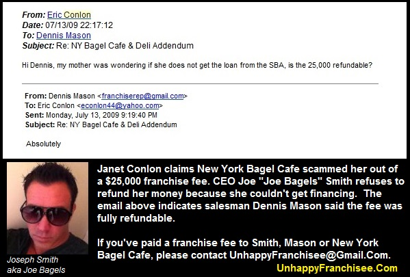 New York Bagel Cafe Franchise