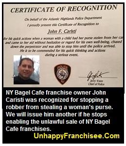 John Caristi NY Bagel Cafe