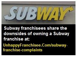 subway franchise complaints