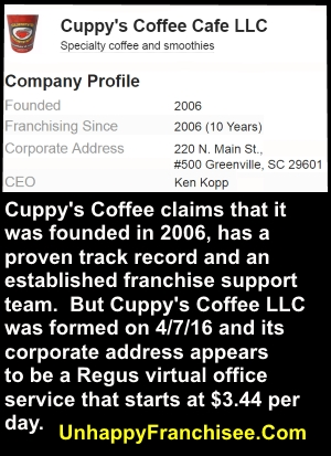 Cuppy's Coffee franchise