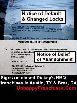 Dickey's Franchise Failures