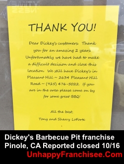 Dickey's Out of Business