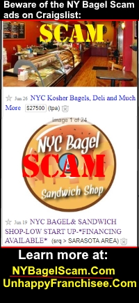 NY Bagel Scam Warning