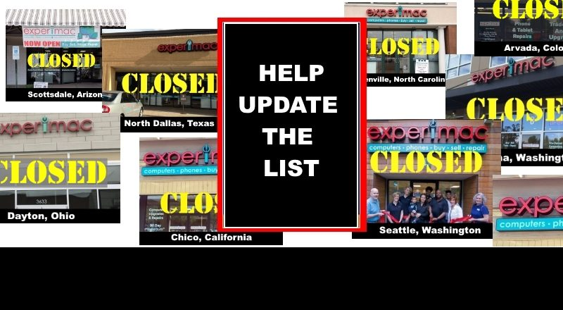 EXPERIMAC Franchise Closed Store List - UPDATED - Unhappy Franchisee