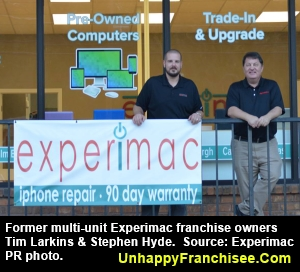 Experimac Franchise Owners Larkins Hyde