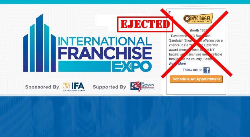83b5e94f259216 NYC Davidovich Bagel Ejected From International Franchise Expo (IFE)