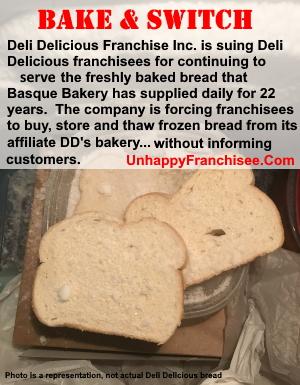 Deli Delicious frozen bread