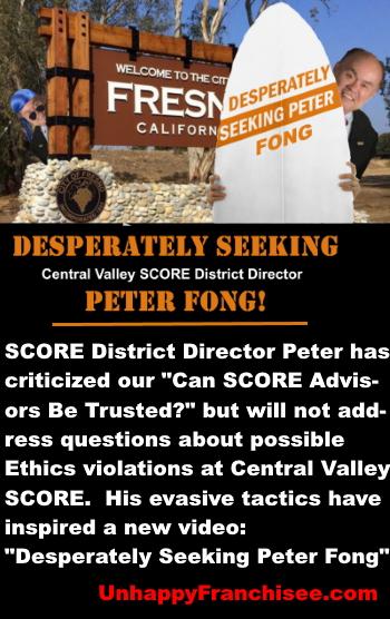 SCORE Peter Fong